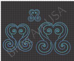 Swirls Rhinestone Download File Patterns Bling Swirl SVG PLT EPS PDF Symbols Stone Designs Stencil Easy