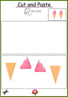 free preschool cutting worksheets Toddler Worksheets, Preschool Worksheets, Preschool Fine Motor Skills, Free Preschool, Cut And Paste, Cards, Maps, Preschool Printables, Playing Cards