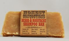 Beard Care Shampoo Bar made All Natural by HonestConcoctions, $7.00