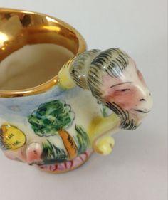 1950's Capo di Monte Style Cherub & Friends Porcelain Creamer - Italy