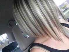 Blonde lowlights highlights ash brown brunette hair love fall pretty