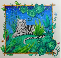 Mein Tiger aus Magical Jungle #adultcoloring #johannabasford #magicaljungle