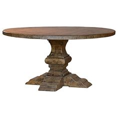 Round dining table - love love love...would look awesome with my white slipcovered chairs! :)