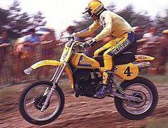 Garrett wolsink world champion Suzuki Motocross, Motocross Racer, Motocross Bikes, Motorcycle Bike, Suzuki Van Van, Mx Racing, Old Scool, Vintage Motocross, Chevy Muscle Cars