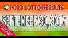 PCSO Lotto Results September 30, 2017 (6/55, 6/42, 6D, SWERTRES & EZ2 LO...