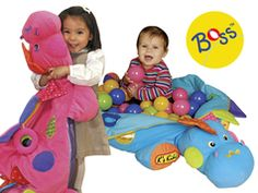Boss, the blue/pink dinosaur with 60 balls in his tummy, is waiting for your baby to give him a big hug. Sit your baby inside its soft tummy and your baby will have hours of fun in this colorful ball pool. Zip it up, and there are other activities for your baby to discover. With lots of play value, it is designed for a wide age bracket, which is suitable for babies from 6 months to 3+ years. For over 15 years K's Kids has developed toys that provide developmental benefits to kids in their…