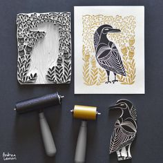 Beautiful Lino cuts