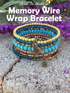 Jewelry Making Bracelets Make a Boho-chic wrapped bracelet using memory wire. It's super easy and looks great! - Make a Boho-chic wrapped bracelet using memory wire. It's super easy and looks great! Wrap Bracelet Tutorial, Bracelet Wrap, Wire Wrapped Bracelet, Bracelet Making, Jewelry Making, Crochet Bracelet, Memory Wire Jewelry, Memory Wire Bracelets, Memory Wire Rings