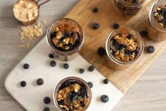 Need an easy, healthy meal prep breakfast idea: Mason Jar Peanut Butter Blueberry Baked Oatmeal is the perfect addition to your day. Healthy Meal Prep, Healthy Recipes, Peanut Butter Roll, Baked Oatmeal, Blueberry, Mason Jars, Blessed, Vegetarian, Meals