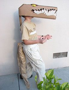 homemade recycled croc costume
