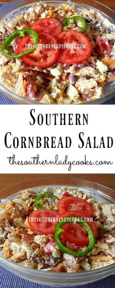 The Southern Lady Cooks Southern Cornbread Salad