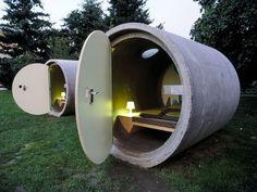Трубо-отель: экологически чистое жилье из бетонных колец – 9 фотографий