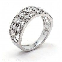18K White Gold Lady`s ring with 69 Round diamonds/0.78R