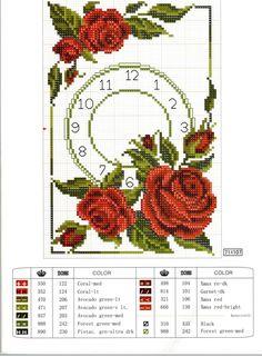 reloj de rosas