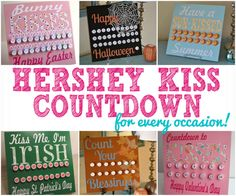There is just SO much excitement in counting down the days until a holiday or special event. That is why I LOVE my Hershey Kiss countdown boards! Start a new tradition with your kiddos and make one for vacations, holidays, birthdays... | #Ad