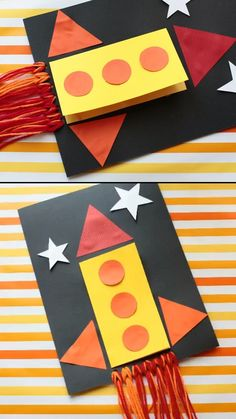 Father's Day Rocket Card Dad, I Love You To The Moon And Back! a cute Father's Day card kids can make for their dads. This Father's Day craft made with yarn comes with a free printable template. Perfect craft for preschoolers and kindergartners. Toddler Crafts, Preschool Crafts, Diy Crafts For Kids, Easy Crafts, Arts And Crafts, Kids Diy, Non Toy Gifts, Diy Gifts, Fathersday Crafts