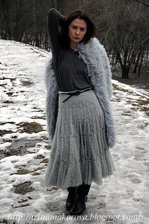 Ravelry: Iren's Skirt ice haze Knit Skirt, Ravelry, Peacock, Shawl, Fur Coat, Ice, Skirts, Jackets, Fashion
