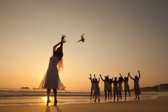A #beach bouquet toss. #YourDreamDay #SunscapeResorts
