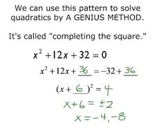 I made some final tweaks to Completing the Square in Algebra and I find it just amazing the difference between this year and previous yea… - New Site Math Teacher, Math Classroom, Teaching Math, Classroom Ideas, Completing The Square, Maths Algebra, Calculus, Math Fractions, Maths Exam