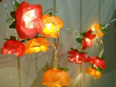 Flower Fairy Light Orange and Pink by FlowerWithMe on Etsy