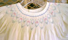 "Basic Bishop Dress, pattern by Chery Williams, smocking plate ""Chelsie"" by Ellen McCarn"