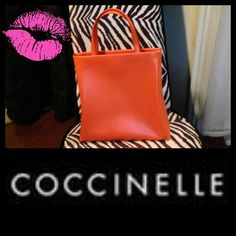 "Coccinelle Handbag / Purse Italian Designer Authentic Coccinelle Handbag, gorgeous tangerine orange, size is 11""x9""x4"" with detachable shoulder strap. Excellent condition and same as new. 🚫PayPal🚫Trades🚫Holds Coccinelle  Bags"