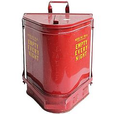 """Industrial Trash Can """" Empty Every Night """" - US 1940"""