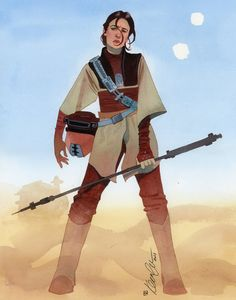 Leia dressed as Boushh • By Kevin Wada