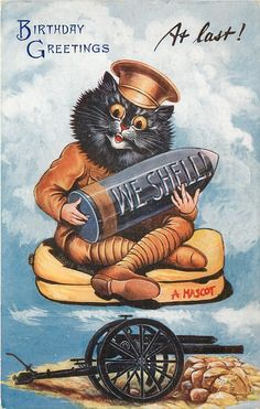 """AT LAST!"" (THE ""SHELL"" MASCOT) - Postcard, 1916~1917"
