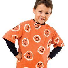 Pumpkin Shirt tie-dyed jack-o'-lantern project via familyfun.com