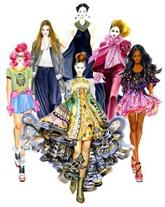 Runway Fashion Illustration Mary Katrantzou by sunnygu on Etsy Fashion Sketchbook, Fashion Illustration Sketches, Illustration Mode, Fashion Sketches, Fashion Drawings, Glamour Moda, Mode Glamour, Arte Fashion, Runway Fashion