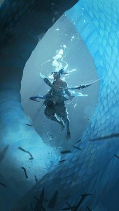 Imagen de blue, dragons, and water