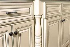 similar to our mocha glazed kitchen cabinets- love