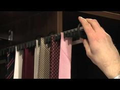 A practical accessory to keep all your ties in order, the Sliderobes tie rack extends fully to let you reach even those hard to reach ones in the back, and t. White Wardrobe Closet, Built In Wardrobe Doors, Oak Wardrobe, Wardrobe Furniture, Closet Mirror, Tie Storage, Tie Rack, Home Organization Hacks, Diy Recycle