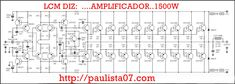 AMPLIFICADOR 1500W – LCM WEB DESIGNER Valve Amplifier, Class D Amplifier, Car Audio Amplifier, Crown Amplifier, Iphone Wallpaper Maker, Electrical Engineering Books, Circuit Board Design, Electrical Circuit Diagram, Ab Circuit