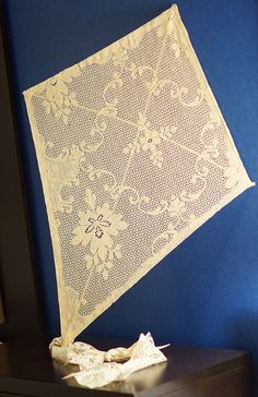 Vintage Curtain Lace Kite. $27.00, via Etsy. Great for Photo shoots!!
