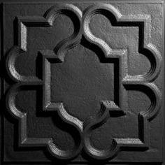 Victorian Black Ceiling Tiles