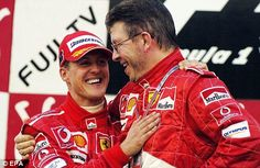 Dominant: Michael Schumacher won five consecutive titles