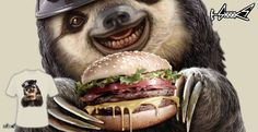 T-shirts - Design: Sloth Burger - by: ADAM LAWLESS