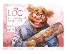 Log Fozzie (Fozzie Bear as a Twin Peaks Muppet)