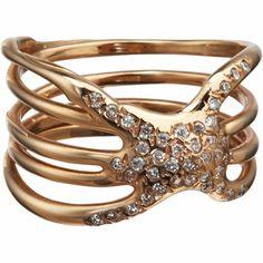 Lucifer Vir Honestus Diamond Nodo Ring at Barneys.com