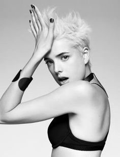 One of our clients, the beautiful Agyness, Deyn working it as usual.