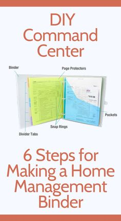 Choosing the right home management binder is a little more involved than you may think. Organizing Paperwork, Binder Organization, Organizing Life, Organising, Household Binder, Household Notebook, Mom Planner, Happy Planner, How To Make Planner