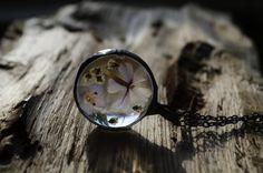 terrarium necklace necklace with real flowers by ZokaKurylov
