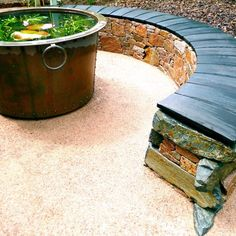 Edinburgh-based Water Gems don't just build water features, they build award-winning, beautiful outdoor spaces, large and small, across Scotland and beyond. Sedum Roof, Water Gems, Wall Bench, Copper Tub, Stone Bench, Redford House, Curved Walls, Cairngorms, Side Garden