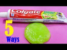 5 Ways Slime with Toothpaste No Glue No Borax - YouTube