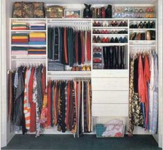 Perfect idea for Averly's closet - except I think she'd still leave her clothes all over the floor anyhow.