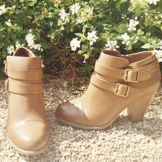 LC Lauren Conrad for Kohl's Two Buckle Ankle Boots