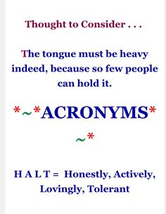 9-17-16 thought to consider & aacronyms