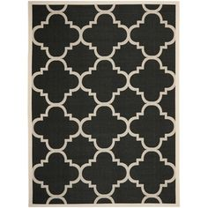 Shop for Safavieh Courtyard Black/ Beige Indoor Outdoor Area Rug. Free Shipping on orders over $45 at Overstock.com - Your Online Home Decor Outlet Store! Get 5% in rewards with Club O!
